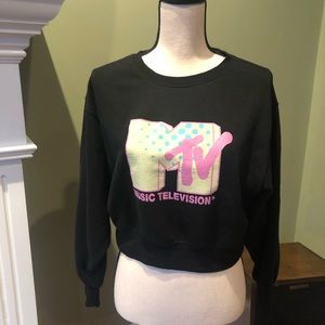 Garage MTV sweatshirt, Size S/P, cropped